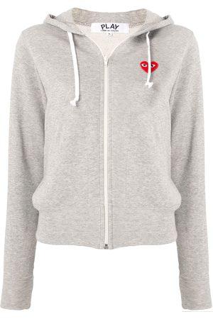 Comme des Garçons Logo-print zipped hoodie - Grey