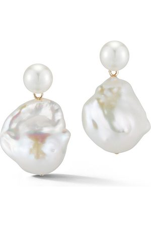 Mateo Duality Pearl Drop Earrings