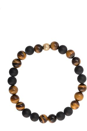 Nialaya Men Bracelets - Elasticated stone bracelet