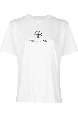 ANINE BING Hudson logo print T-shirt