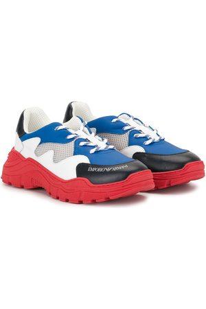 Emporio Armani Colour-block lace-up sneakers - Multicolour