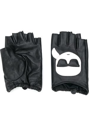 Karl Lagerfeld K/Ikonik fingerless gloves