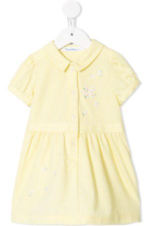 Familiar Striped print short sleeve dress