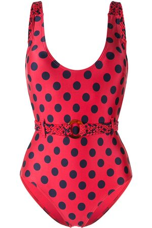 Duskii Cerise braided one piece