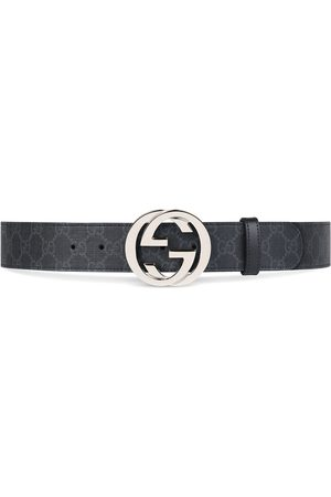 Gucci Men Belts - GG Supreme belt with G buckle