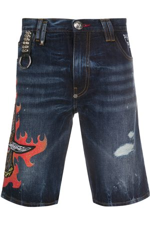 Philipp Plein Denim bermuda shorts