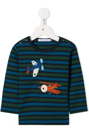 Familiar Striped long-sleeved T-shirt