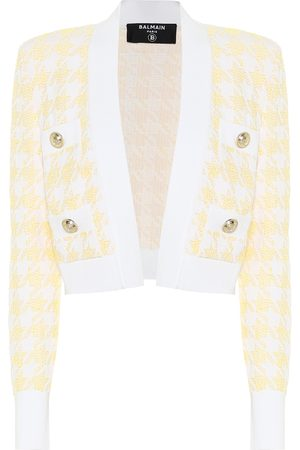 Balmain Exclusive to Mytheresa – Houndstooth jacquard cropped jacket