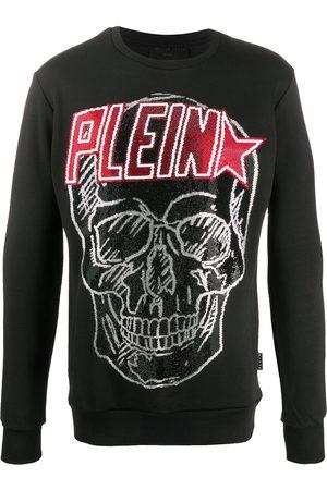 Philipp Plein Emblelished logo skull sweatshirt