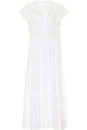 Chloé Cotton-voile midi dress