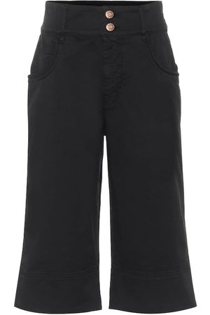 Chloé High-rise stretch-cotton shorts