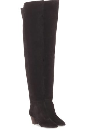 Saint Laurent Kim 60 suede over-the-knee boots