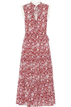 Chloé Floral cotton-voile midi dress