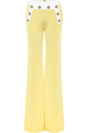 Balmain Exclusive to Mytheresa – High-rise knit flared pants