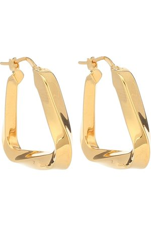 Bottega Veneta Plated twisted hoop earrings