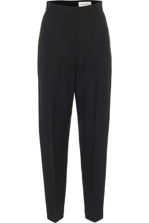 Alexander McQueen High-rise wool-blend tapered pants