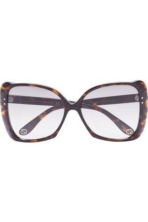 Gucci Havana oversized square sunglasses - Grey