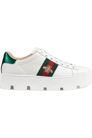 Gucci Women Platform Sneakers - Ace embroidered platform sneaker