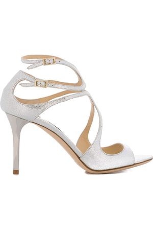Jimmy Choo Ivette 85 sandals - Metallic