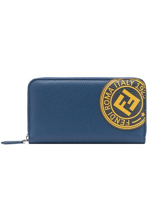 Fendi Logo stamp zipped wallet