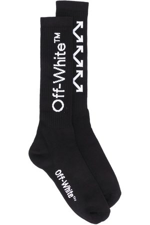 OFF-WHITE Arrows motif ribbed socks
