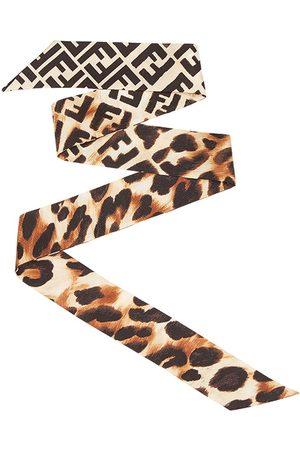 Fendi Women Scarves - Leopard print wrappy