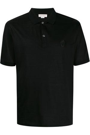 Alexander McQueen Beaded skull polo shirt