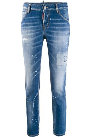Dsquared2 Girls Straight - Medium Paint Cool Girl jeans