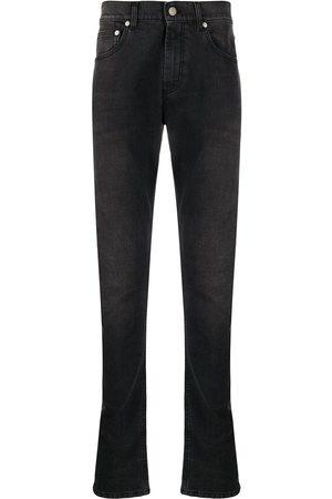 Alexander McQueen Dragon patch slim-fit jeans