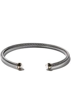 David Yurman Women Bracelets - 18kt yellow gold accented sterling silver Cable cuff bracelet - S8