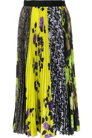 Msgm Panelled pleated skirt