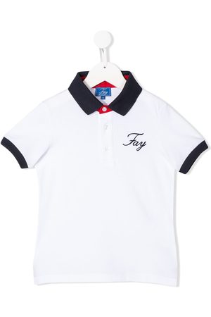 FAY KIDS Contrast-panel polo shirt