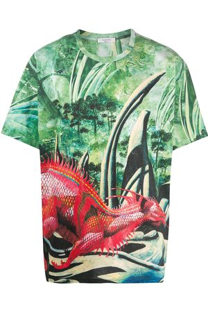 VALENTINO Men T-shirts - All-Over Red Dragon T-shirt