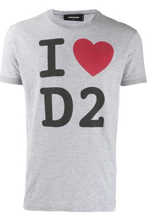 Dsquared2 I Love D2 printed T-shirt - Grey