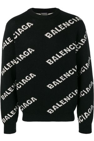 Balenciaga All-over logo jumper
