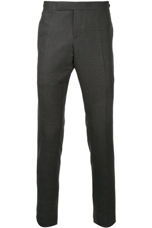 Thom Browne Men Formal Pants - Low Rise Skinny Side Tab Trouser In Super 120's Twill - Grey