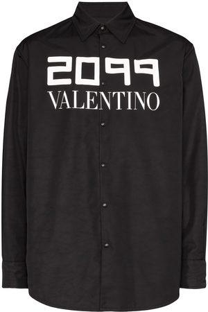 VALENTINO Men Shirts - 2099 logo print shirt jacket