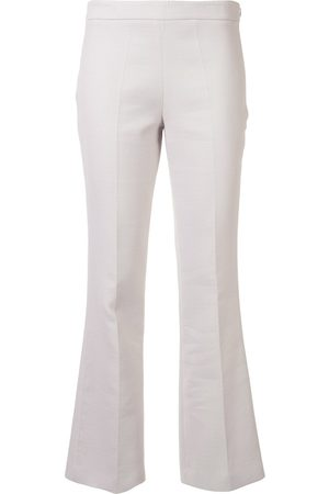 Giambattista Valli Low-rise flared trousers - Grey