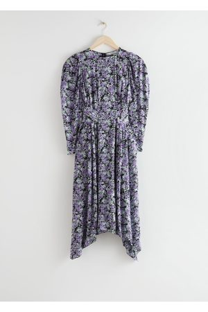 & OTHER STORIES Floral Puff Sleeve Midi Dress