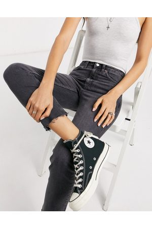 Topshop Straight leg jeans in washed