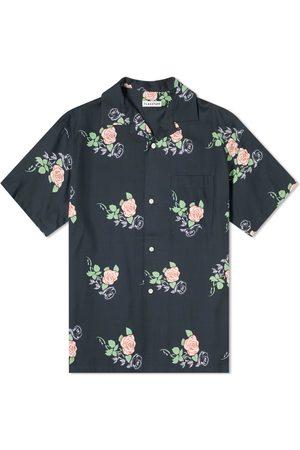 Flagstuff Men Shirts - Rose Print Vacation Shirt