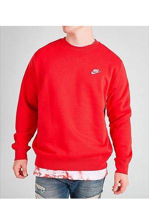 Nike Sportswear Club Fleece Crewneck Sweatshirt in /University Size X-Small Cotton/Polyester/Fleece