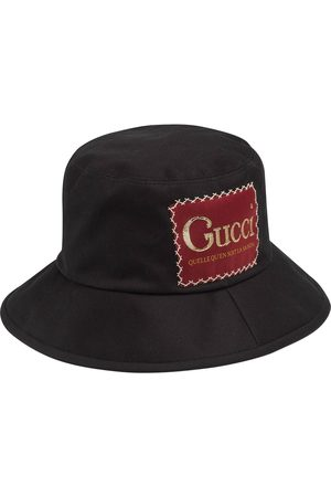 Gucci Logo patch bucket hat