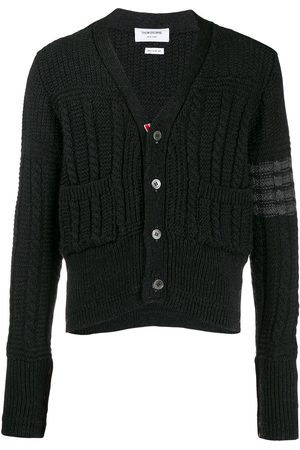 Thom Browne Aran knit cardigan - Grey