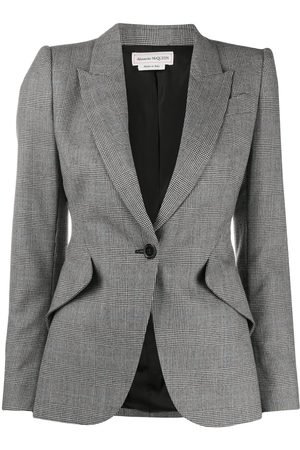 Alexander McQueen Prince of Wales fitted blazer