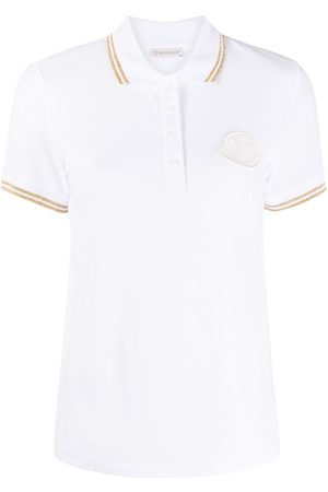Moncler Women Polo Shirts - Logo-patch polo top