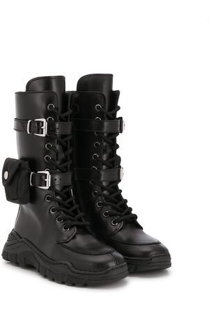 GALLUCCI Knee-high cargo boots