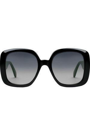 Gucci Square-frame Web sunglasses