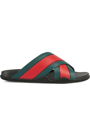 Gucci Web panelled slides