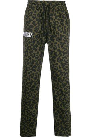 Pleasures Men Pants - Leopard print drawstring trousers